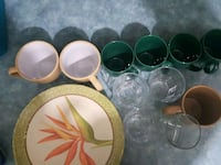 green and brown ceramic plates Laval, H7V 3X2