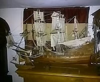 brown and white galleon ship miniature Queens, 11435