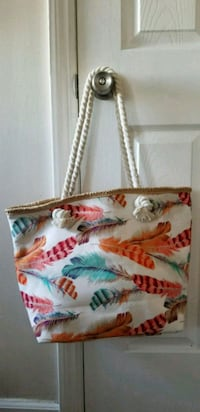 white, red, and green floral textile handbag Oakland, 94610
