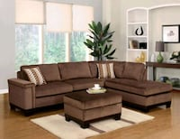 Opulence Brown Reversible Sectional | OP370 Houston