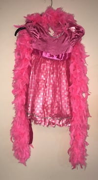 Child Pink Princess Dress Up Time Costume Fits 3t And Up