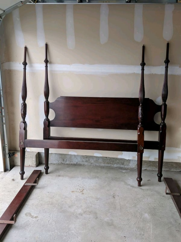 Used Antique 4 Poster Bed Queen For