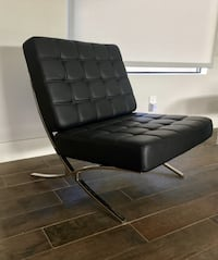 Black leatherette Barcelona chair Palm Springs, 92262