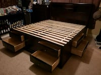 Cal King bed frame with 10 drawers Fresno, 93737