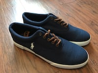 New Polo Ralph Lauren Navy Terry Sneakers Sanford, 27330