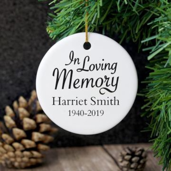 personalised ceramic christmas decorations