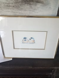 two penguin painting with frame Pitt Meadows, V3Y