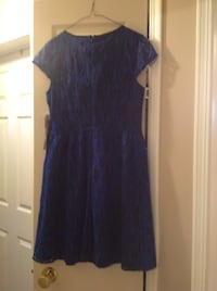 Kenzie black and blue lace fit and flare, new with tags, size 6