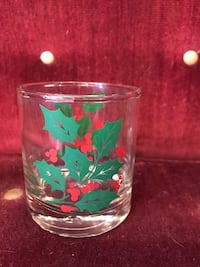 clear and multicolored floral glass cup St. Louis Park, 55416