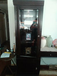 Wooden  cabinets with glass