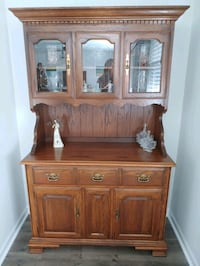 Vintage Tell City China Hutch & Buffet