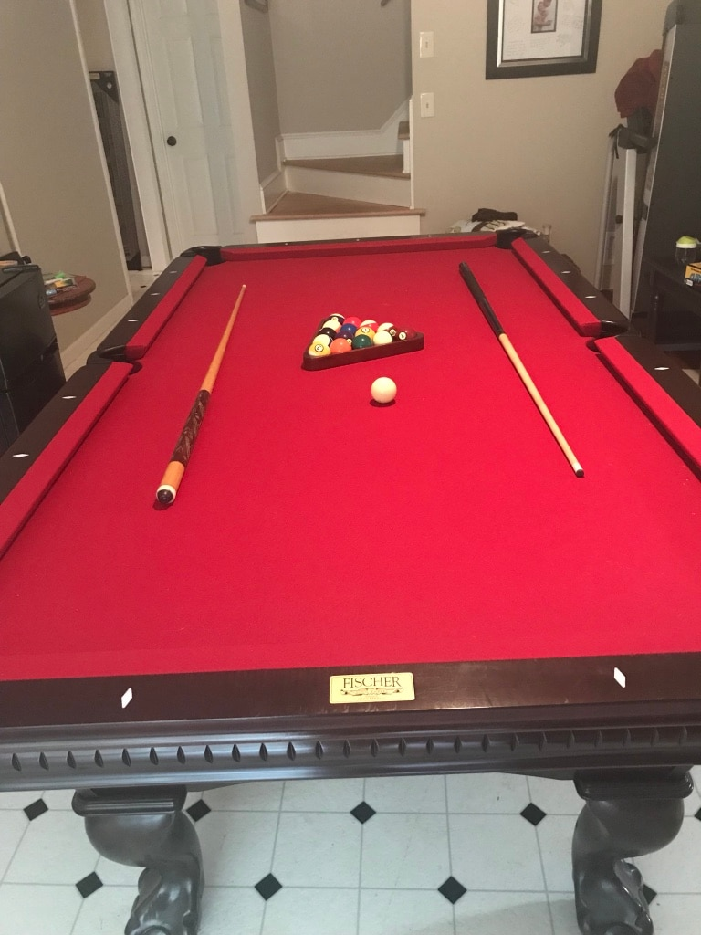 8 Ft Fischer Pool Table. Like New