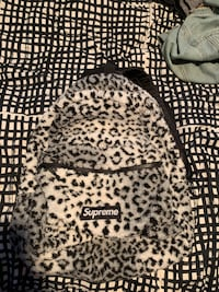 SUPREME LEOPARD FLEECE BACKPACK Barrie, L4N 0N3