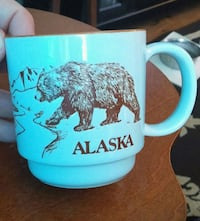 Unique Alaska mug with embossed grizzly and polar Waterloo, N2L 4N5
