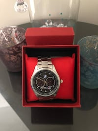 round silver chronograph watch with link bracelet Torrance, 90504