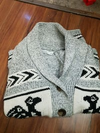 gray and black knitted cardigan Surrey, V3R 1N9