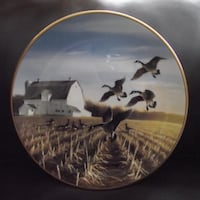 """Bradex Collectors Plate """"Canada Geese in the Autumn Field"""" 1988 Hanover"""