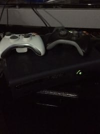 black Xbox 360 console with controller Waterloo, N2K 3R3