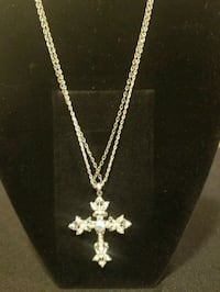 Silver CZ Pendant Necklace Milford Mill, 21244