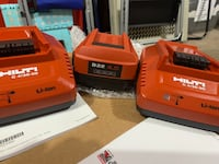 Brand new hilti 4.0 Ah ( 21.6V ) compact battery and 2 charger