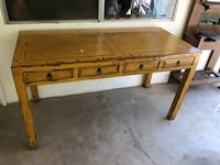 brown wooden table with drawer Santa Paula, 93060