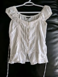 White off-the-shoulder blouse size small