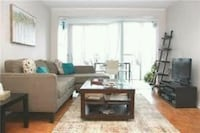 brown wooden coffee table and sofa Vaughan, L4J 6M6