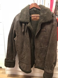 Green Leather Jacket XL Kelowna, V1Y 3Z6