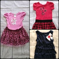 3 Beautiful Dresses toddler size 4 , price for all .. Frederick