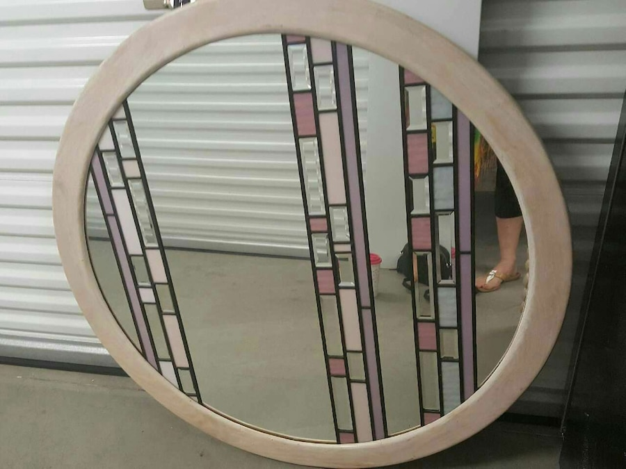 LARGE wall mirror signed
