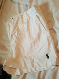white Polo by Ralph Lauren shorts