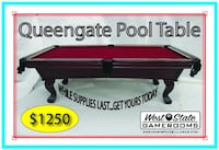New, Custom Made, Queengate Pool Table (pool tables) Fullerton