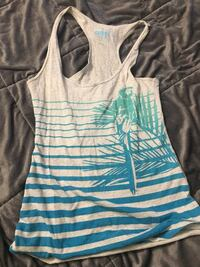 White and blue stripe tank top