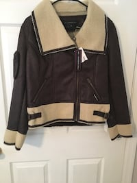 black and brown zip-up jacket Hopatcong, 07843