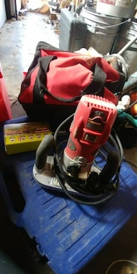 red and black power tool