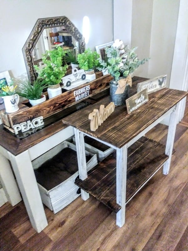 Rustic Farmhouse Entry Table 878aeef8-8407-4d41-8390-481b6ed3aac0