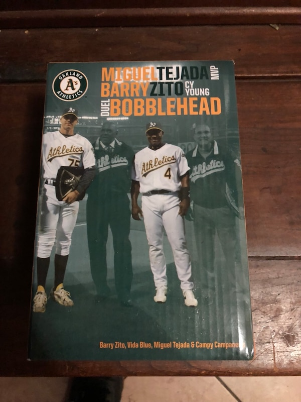 quality design aee7f a7908 Oakland Athletics Miguel Tejada and Barry Zito bobblehead box