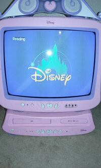 Disney big tv with dvd/vcr combo