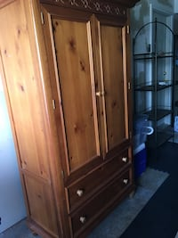 Brown wooden cabinet with drawer Sterling, 20165