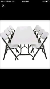 Plastic folding picnic table with 6 chairs  Sarasota, 34231