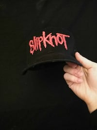 black and red Slipknot embroidered snapback cap Beech Grove, 46107