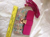 pink and teal beaded sling bag Buena Park, 90620