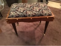 brown wooden framed with floral padded ottoman Barrie, L4N 5G8