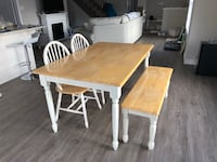 Kitchen table chairs and bench Fort Erie