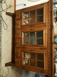 Lit Display Cabinet with pull out drawers