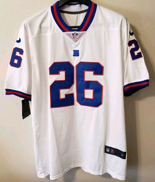 54f816a1db9d0f Used Saquon Barkley NY Giants Jersey for sale in Queens - letgo