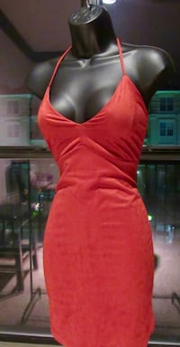 Suede fitted dress
