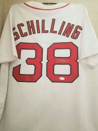 Curt Schilling autographed Boston Red Sox Jersey  1941 mi