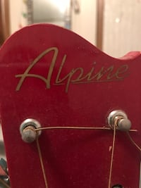 red Alpine guitar headstock Millers Creek, 28651