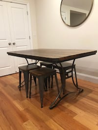 Dinning table (rustic, wooden and metal dinning table) for sale Somerville, 02145